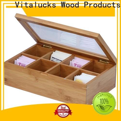 Vitalucks wooden tea box for package