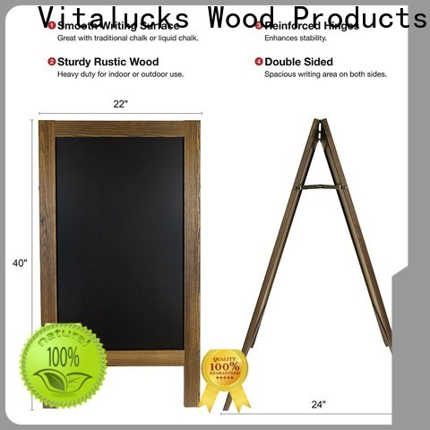 Vitalucks latest wooden blackboard wind resistant bulk supply