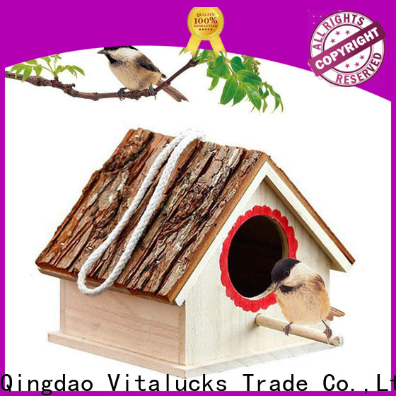 Vitalucks wholesale wooden bird house environmental friendly fast delivery