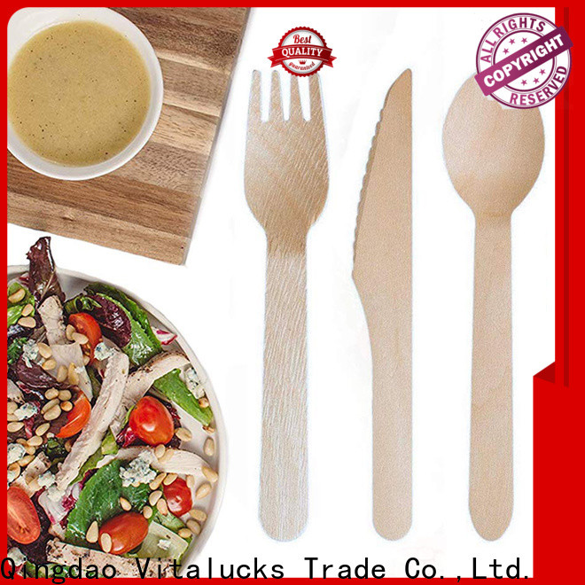 Vitalucks oem&odm wooden tableware handy bulk supply