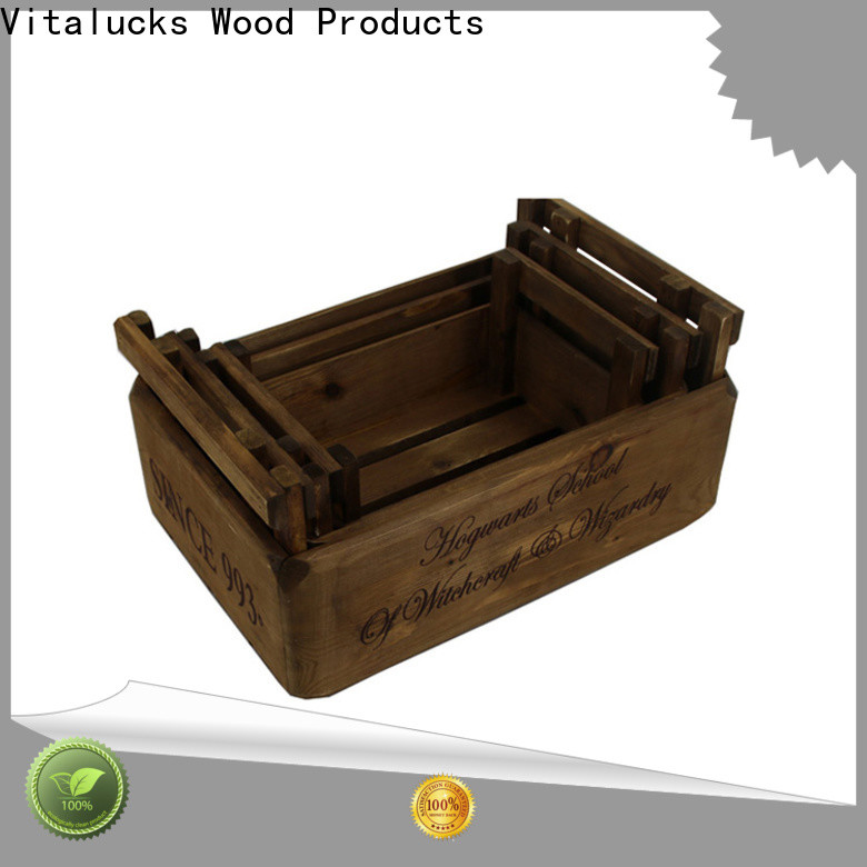 Vitalucks wooden gift crate high quality best factory price