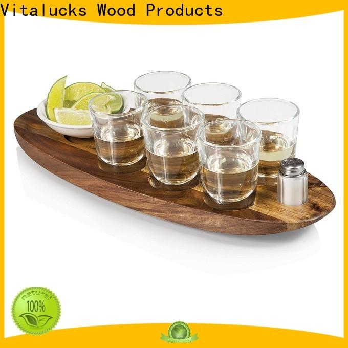Vitalucks top-selling wooden platter fast delivery for restuarant