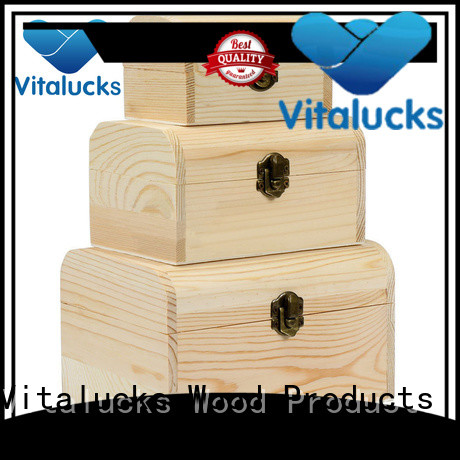 Vitalucks wooden gift boxes with lids top-selling fast delivery