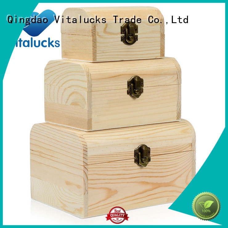 Vitalucks unfinished essential oil wood box high-quality for pakaging
