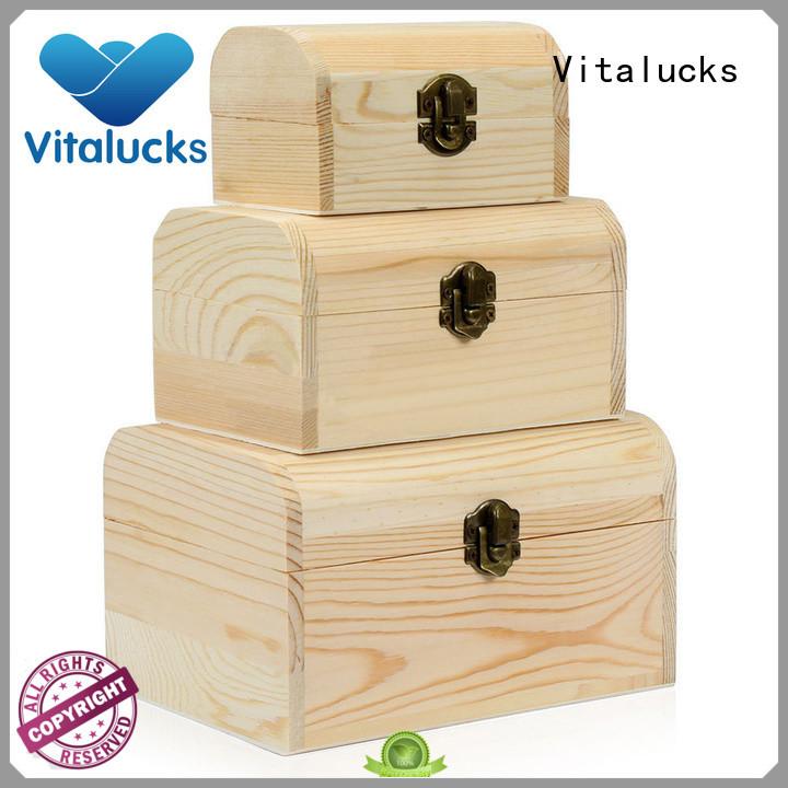 Vitalucks small wooden gift boxes quality assured