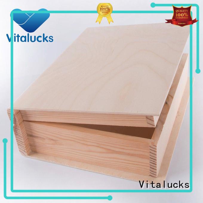 Vitalucks best price wine bottle wood box for pakaging