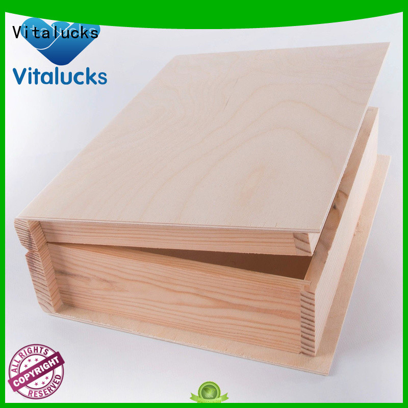 Vitalucks customized wooden crate fast delivery
