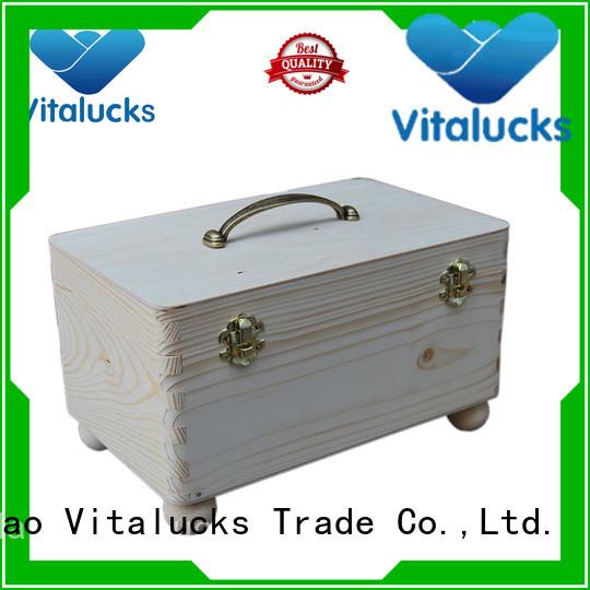 Vitalucks wooden gift boxes wholesale favorable price latest design