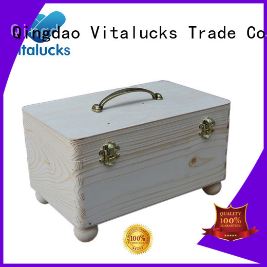 Vitalucks wooden box with lid high-quality fast delivery