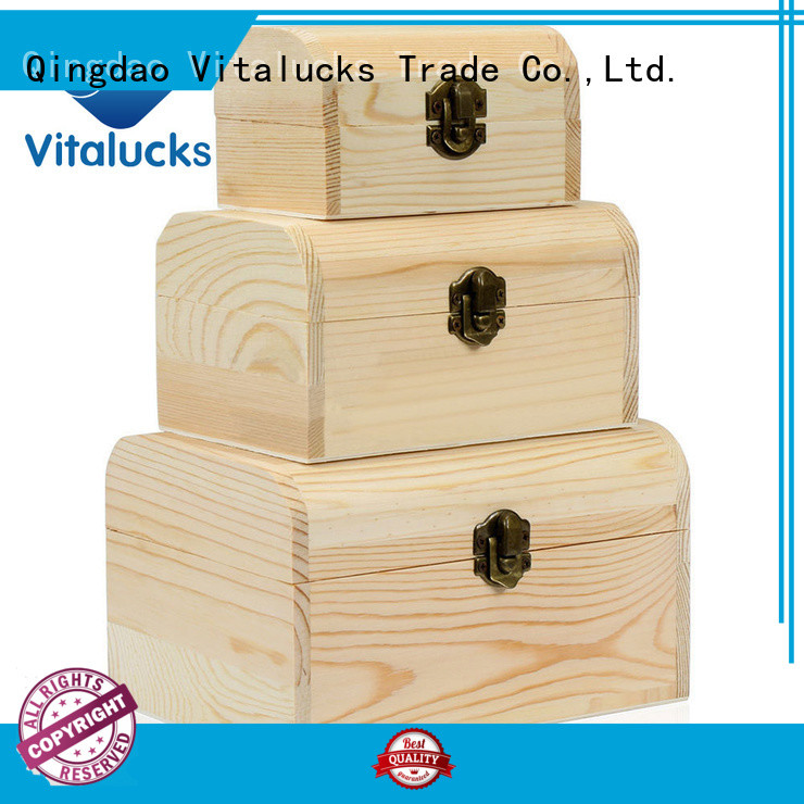Vitalucks wooden gift boxes wholesale wholesale fast delivery