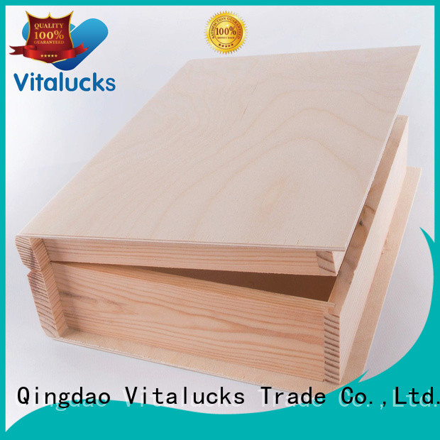 Vitalucks custom wooden boxes favorable price fast delivery