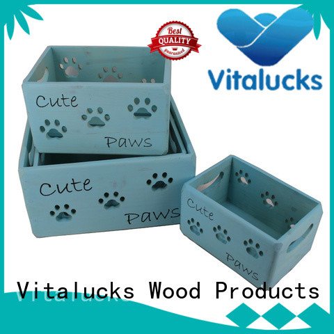 Vitalucks wooden gift crate hot-sale good materials