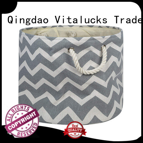 Vitalucks collapsible fabric storage baskets solid construction large capability
