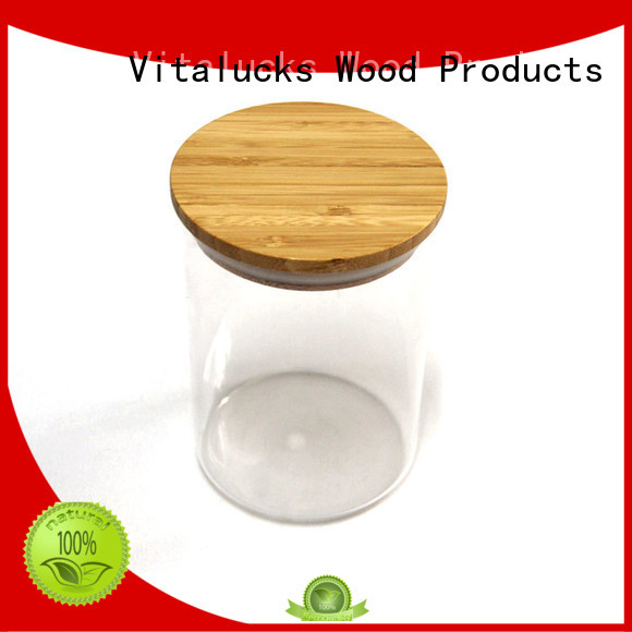 Vitalucks wholesale round wooden lids fast delivery manufacturing