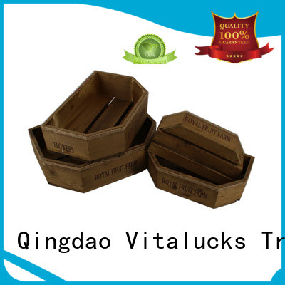 Vitalucks wooden gift crate high quality