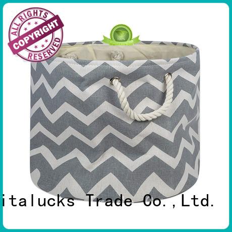 Vitalucks fabric basket solid construction large capability