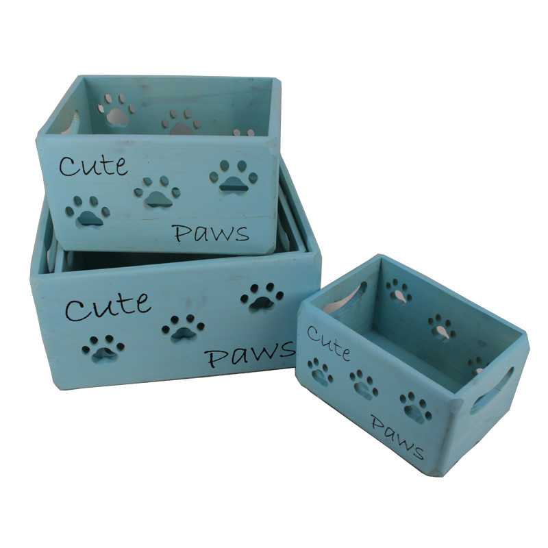 Wholesale OEM accepted wooden crates with handle