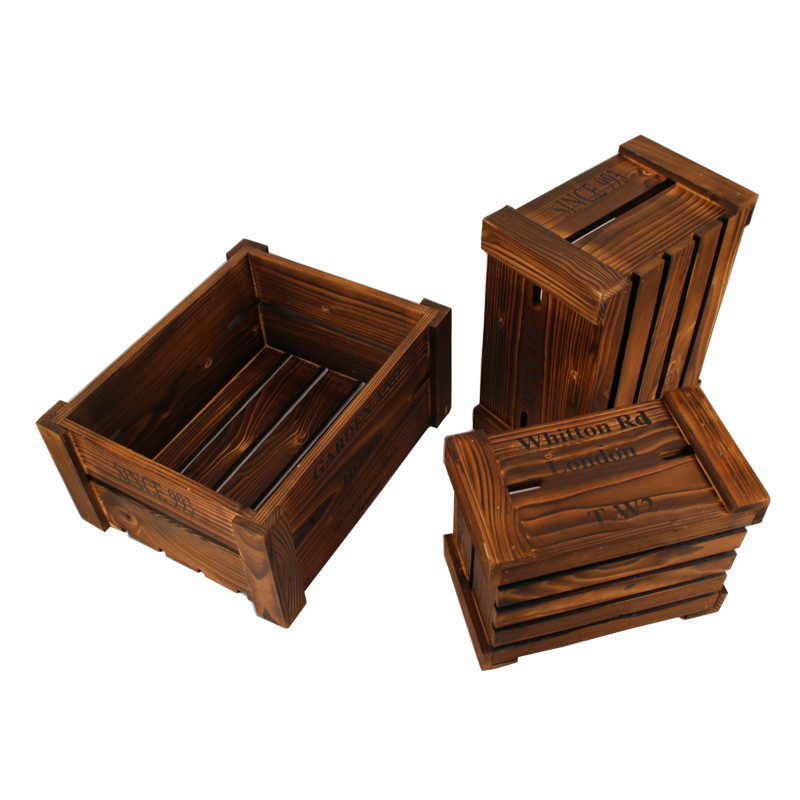 Hot sales customized size antique toys wooden crates