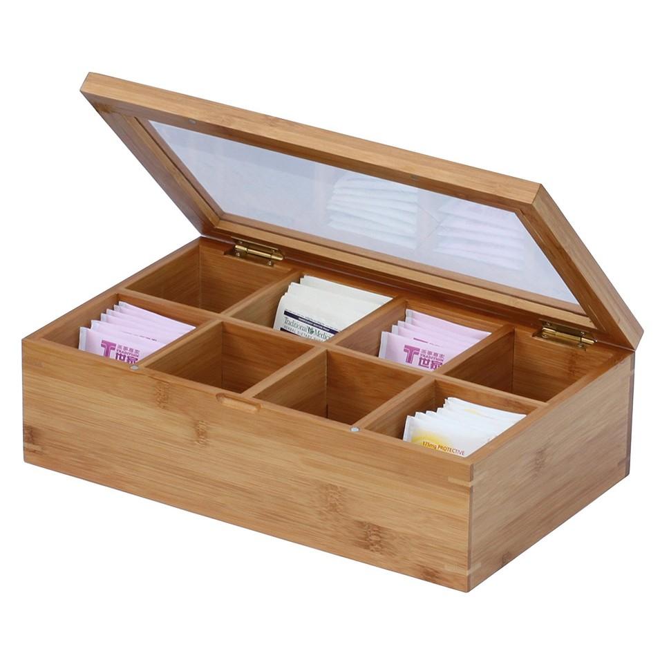 VL-TB05 Functional and versatile bamboo tea box