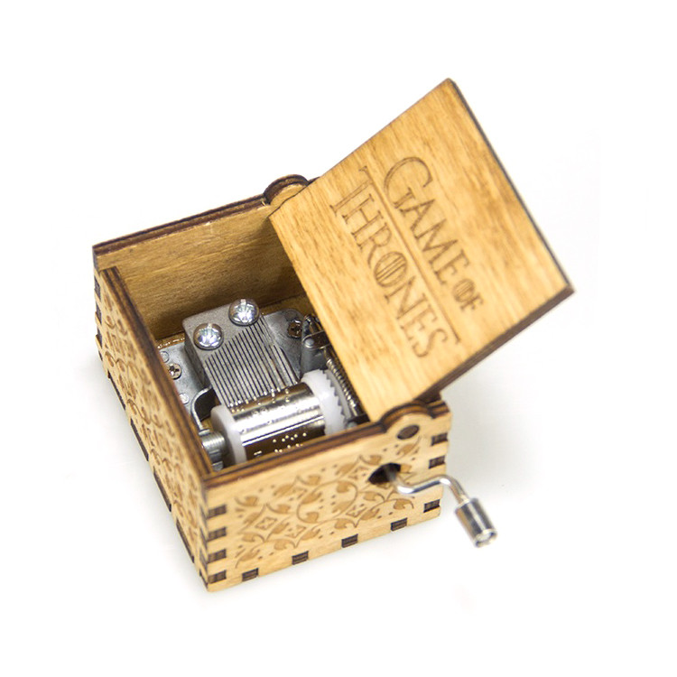 small wooden crafts christmas gift music boxes