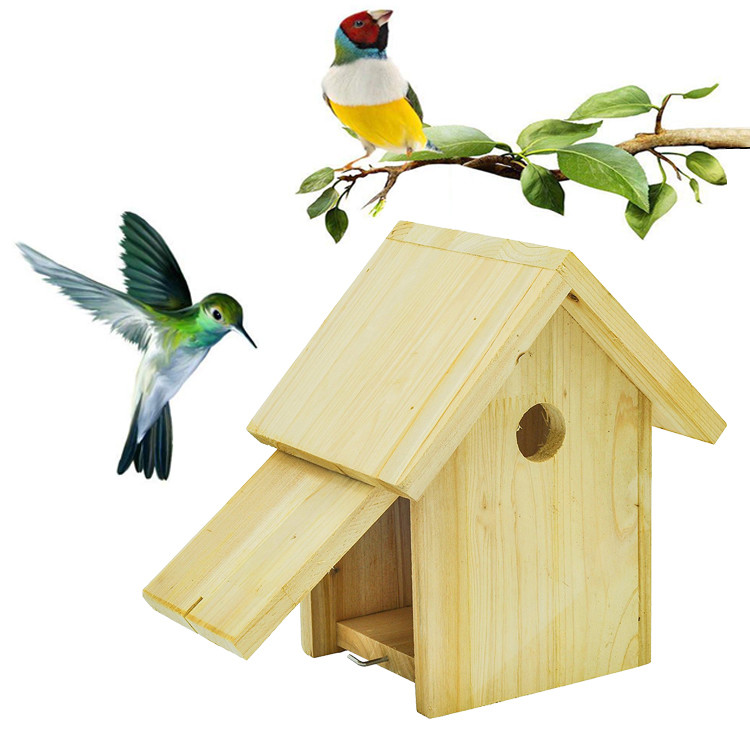 Custom Eco-friendly new unfinished wood bird house
