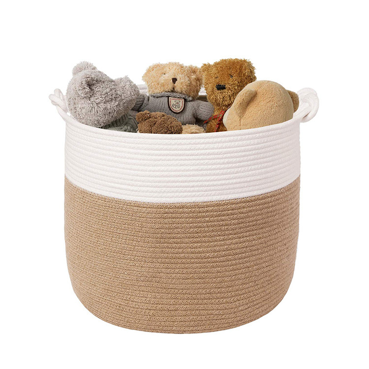 new design cotton rope basket for blankets,kids toys baby diaper storage baskets