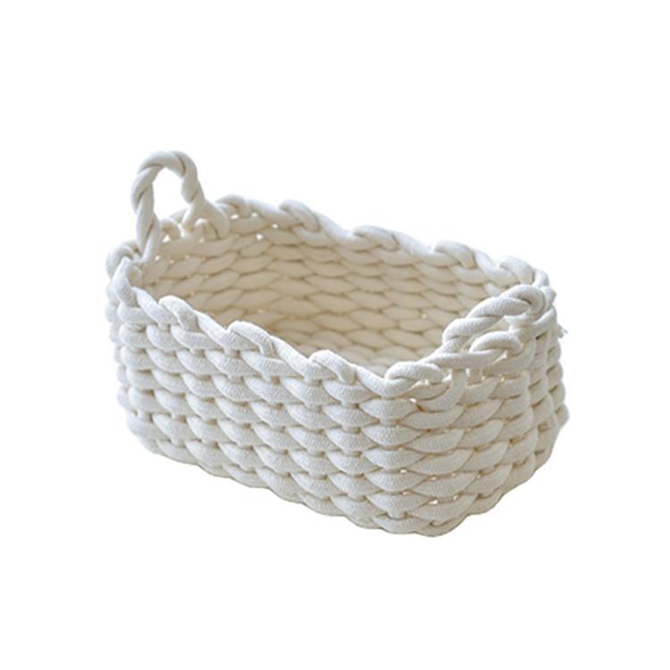 top selling cotton rope basket wholesale 100% handmade customized natural sundries storage basket
