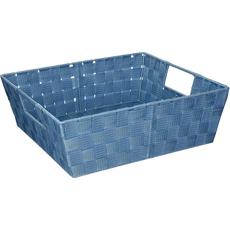 manufacturers blue color stackable polypropylene knitted filament storage basket 13