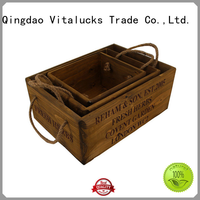 Vitalucks decorative wooden crates popular fast delivery