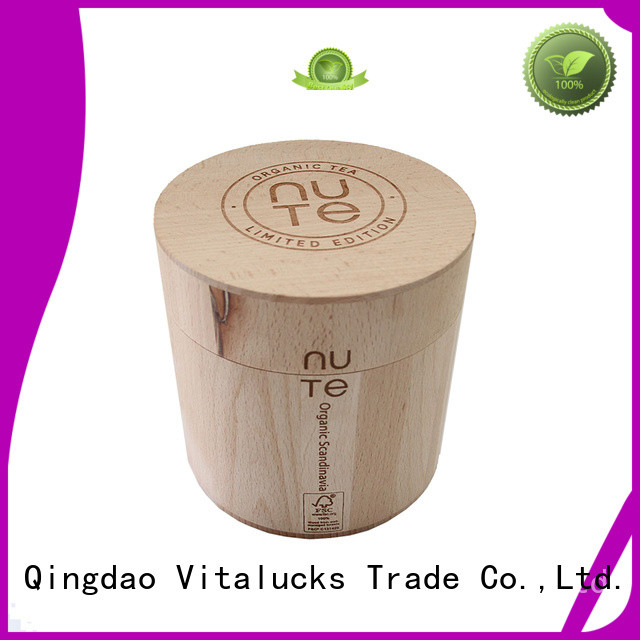 Vitalucks professional wooden tea canister advantageous