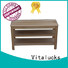 trendy wooden shoe rack cabinet simple structure for family