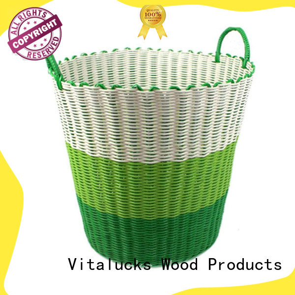 Vitalucks durable pp basket solid wood manufacturing