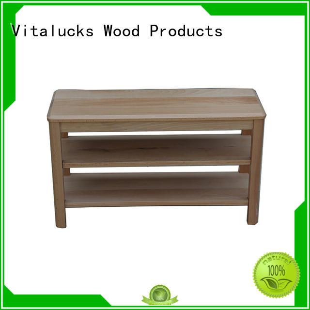 Vitalucks timber shoe rack simple structure for family