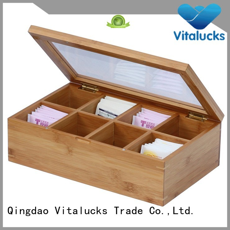 Vitalucks wholesale wooden tea box factory price manufacturing