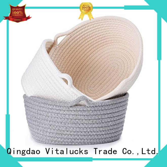 Vitalucks custom basket storage boxes with lids fast delivery manufacturing