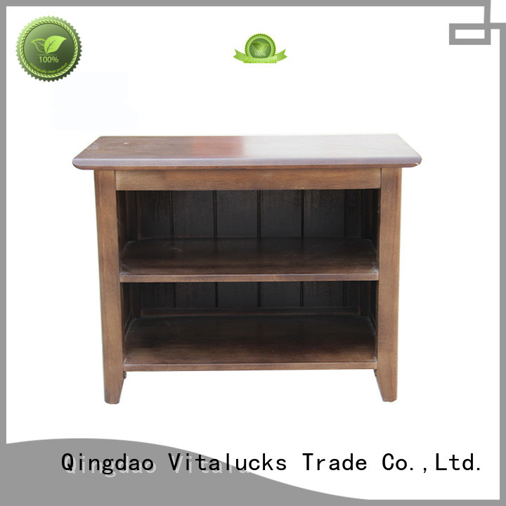 Vitalucks durable wood shoe cabinet furniture simple structure for family