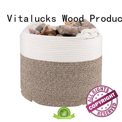 Vitalucks professional basket weave storage boxes practical customizaition