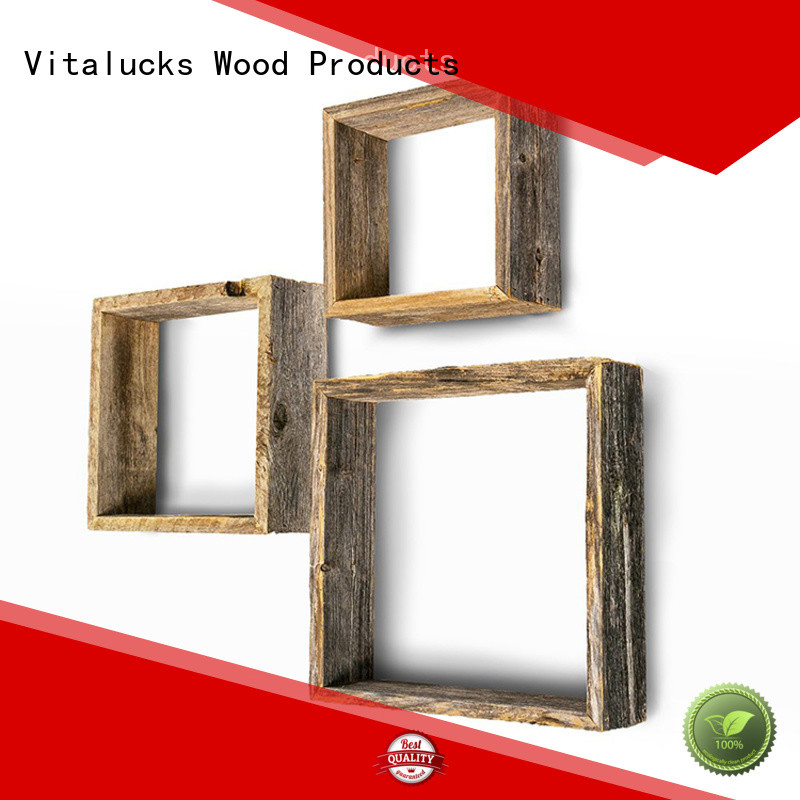 Vitalucks floating wood shelves great technical ability for wholesale