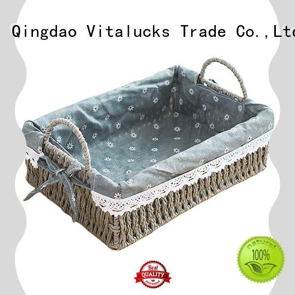 Vitalucks lined storage baskets for shelves favorable price production