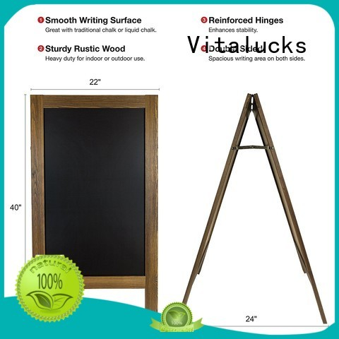 Vitalucks strict quality control custom chalkboard commercial silk-screen printing