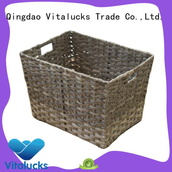 Vitalucks durable decorative plastic storage boxes with lids wholesale customization