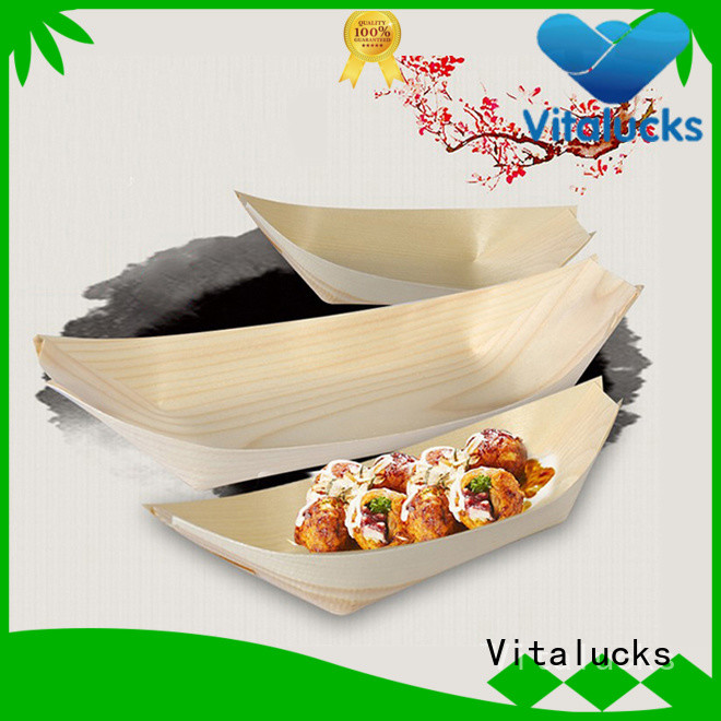 professional wooden sushi boat manufacturing for food display