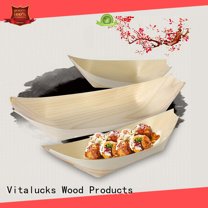 Vitalucks custom wooden sushi boat modern for serving dish