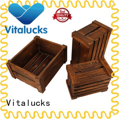 Vitalucks custom wooden boxes top-selling at discount