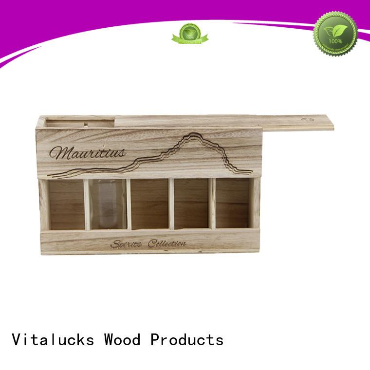 Vitalucks wine bottle wood box favorable quality for gift