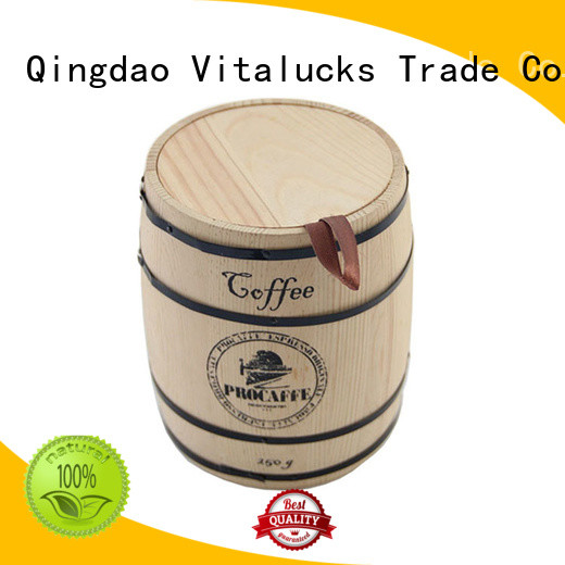 best price wooden coffee canister advantageous