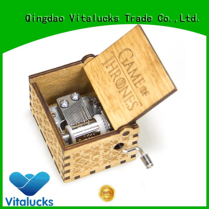 adjustable wooden music box wholesale simple construction