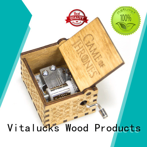Vitalucks wooden music box wholesale fast delivery