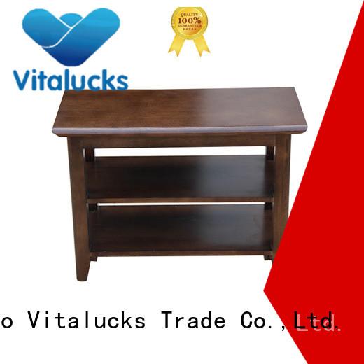 Vitalucks durable hardwood shoe cabinet large capacity for room