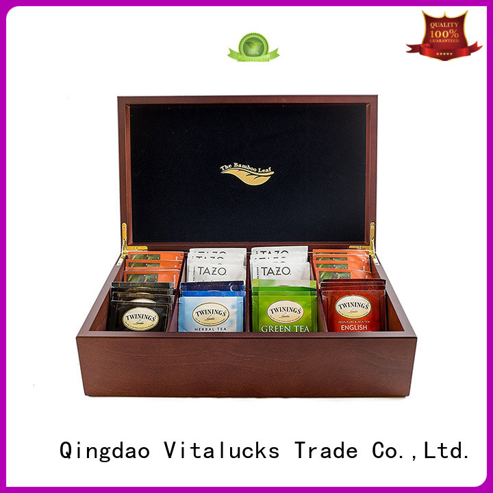 mutl-functional wooden tea box for package